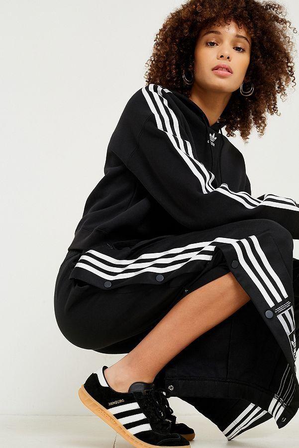 super popular 3391e b7f04 adidas Originals Adibreak 3-Stripe Black Taping Popper Track Pants  Urban  Outfitters  Womens  Adicolor UOEurope UrbanOutfittersEU