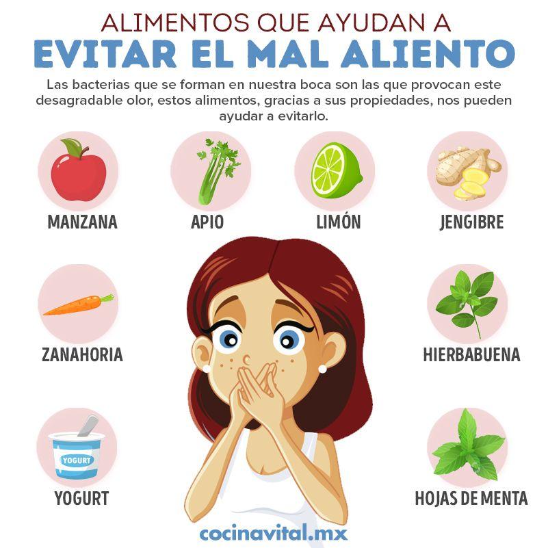 Cómo Usar Alimentos Para Eliminar El Mal Aliento Eliminar El Mal Aliento Alimentos Recetas Para La Salud