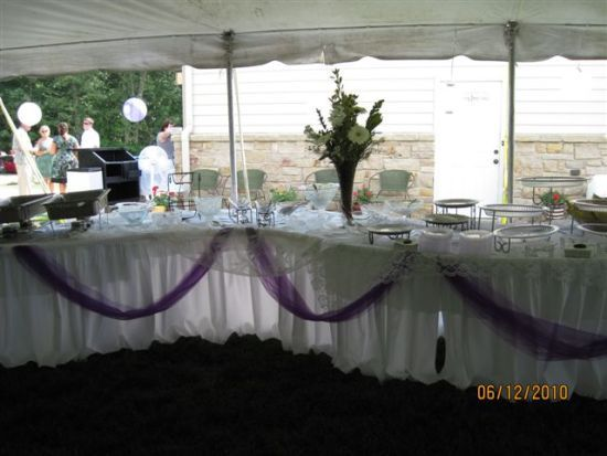 Buffet Line Set Up In A Tent For A Wedding Reception Party Rentals Tent Fairview Heights