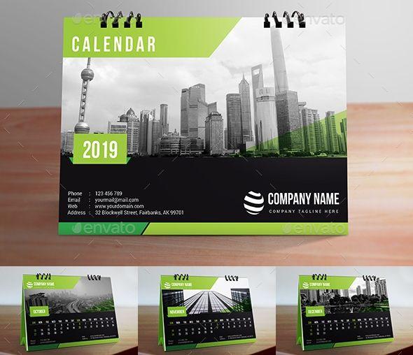 22665847-Desk Calendar 2019 4 (Dengan gambar) | Desain ...