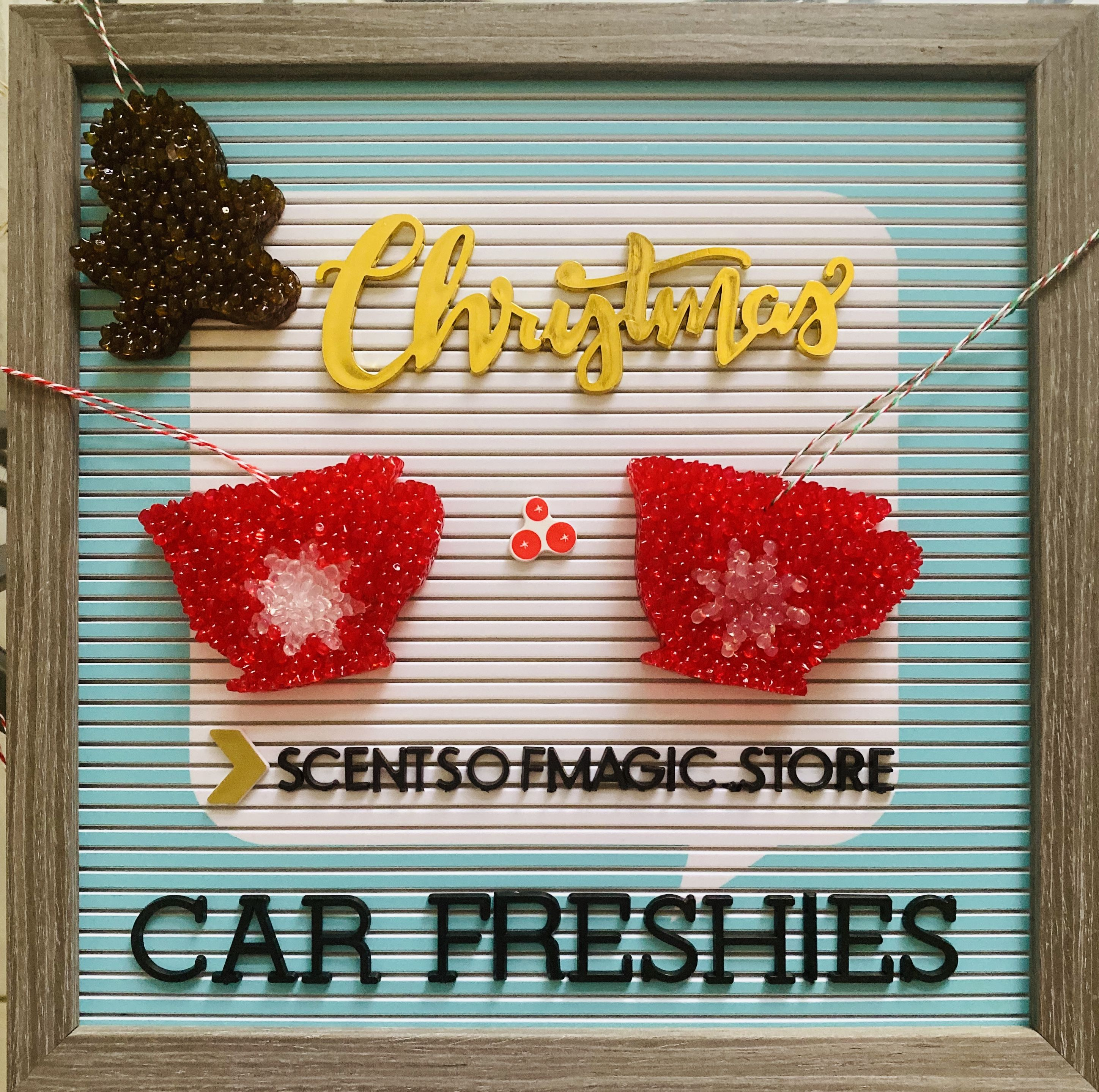 Sweet Christmas Coffee Blend scented car freshie (With