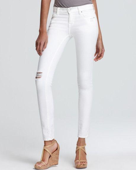 bigchipz.com white-distressed-skinny-jeans-16 #skinnyjeans | Jeans ...