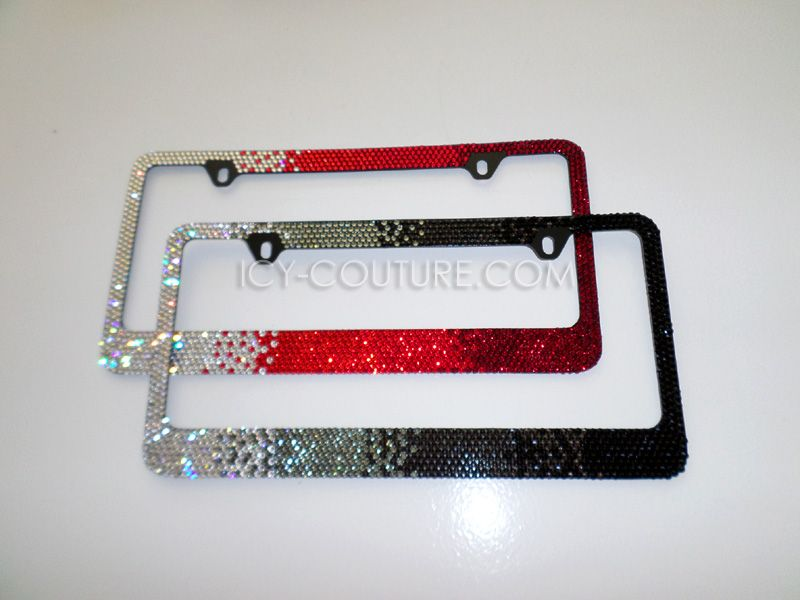 Red Diamonds HORIZONTAL OMBRE - Swarovski Crystal License Plate ...