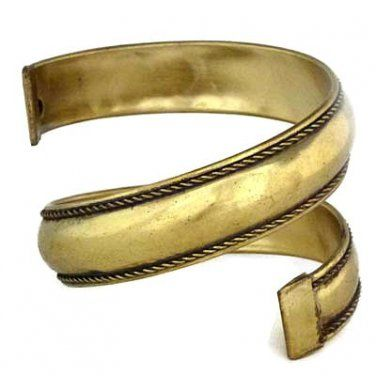Spiral Bangle Tribal Bracelet Cuff Antique Gold Ethnic Belly Dancer Arm Wrap Jewelry $18 free ship @Monique Dewarrat†oas†