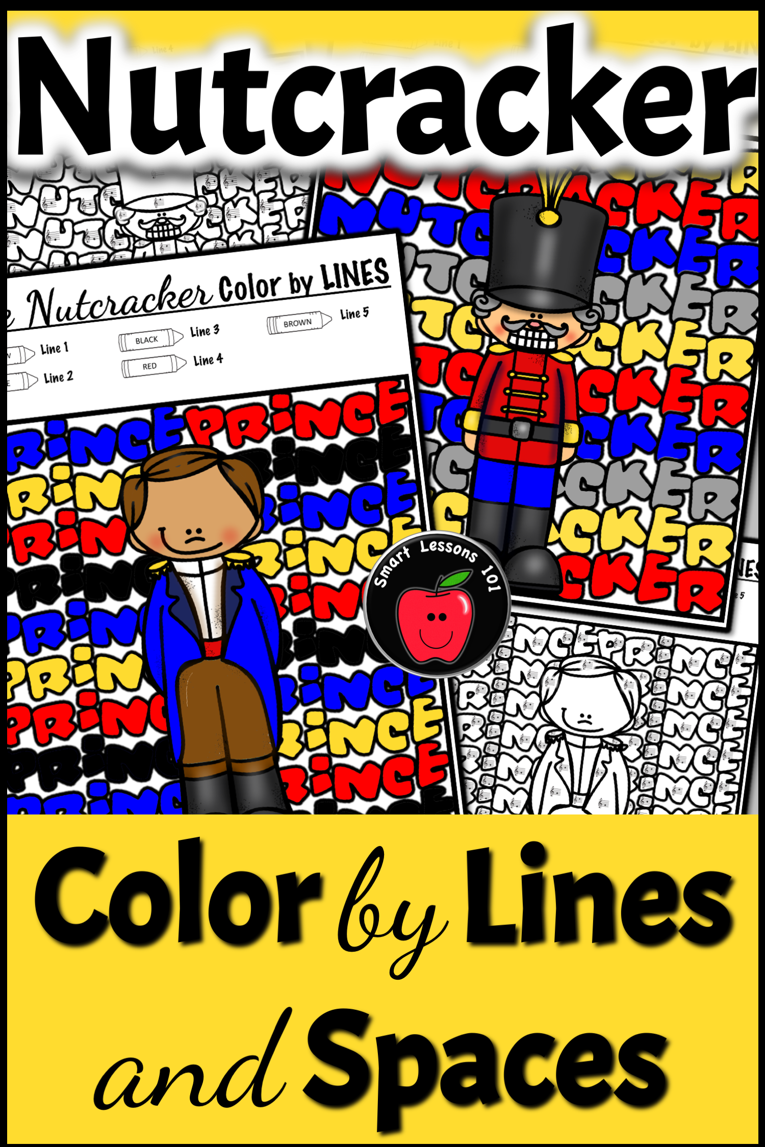 The Nutcracker Color By Code Christmas Music Color By Note