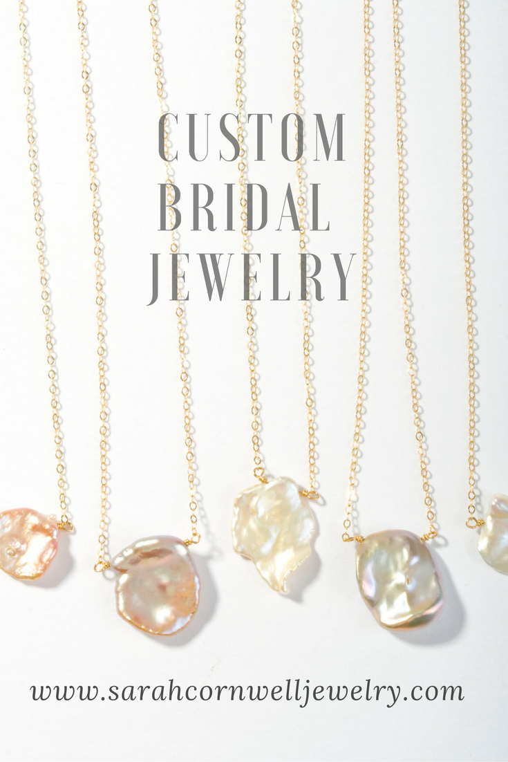 Start your wedding jewelry  consultation through our website, we promise its easy and fun! It doesn't matter where you live, we can work with you through phone calls and email. Our designs are stunning, effortless, and original.