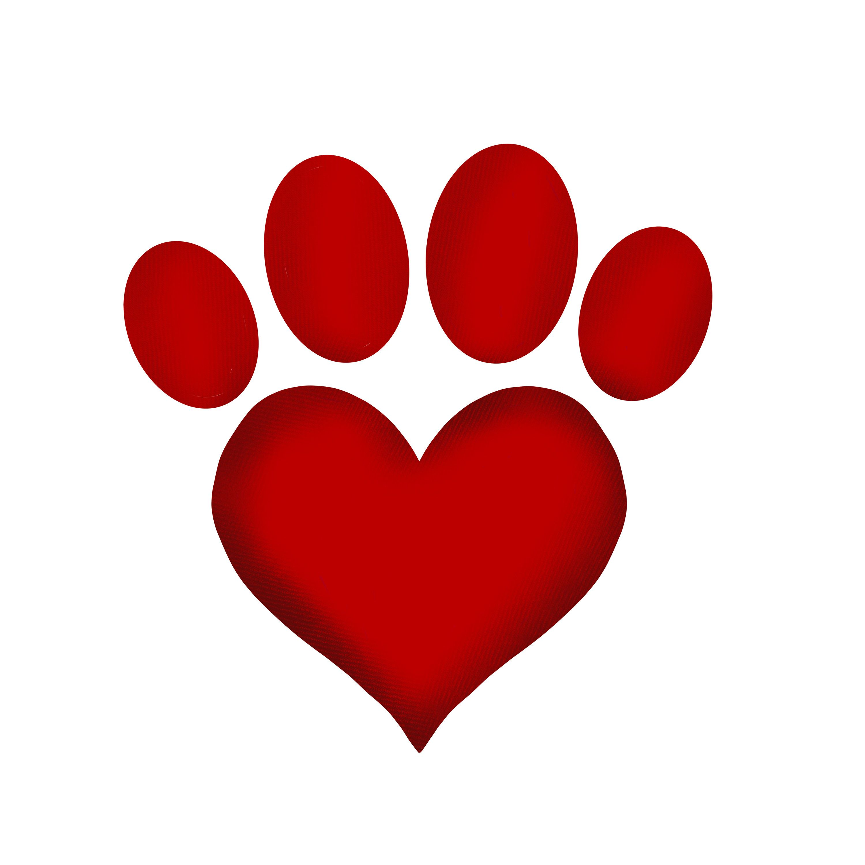 Dog Paw Print Png Heart Dog Paw Digital 300 Dpi Commercial Etsy In 2021 Valentines Day Drawing Paw Print Crafts Valentines Wallpaper