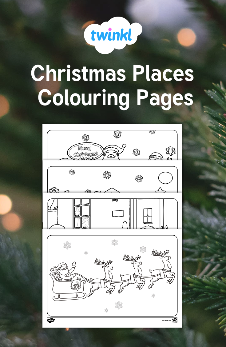 this lovely set of christmas place mats features different types of festive illustrations on each one