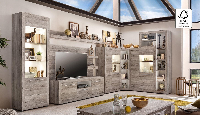 8 Wohnzimmermöbel Sandeiche in 8  Wohnzimmerschränke