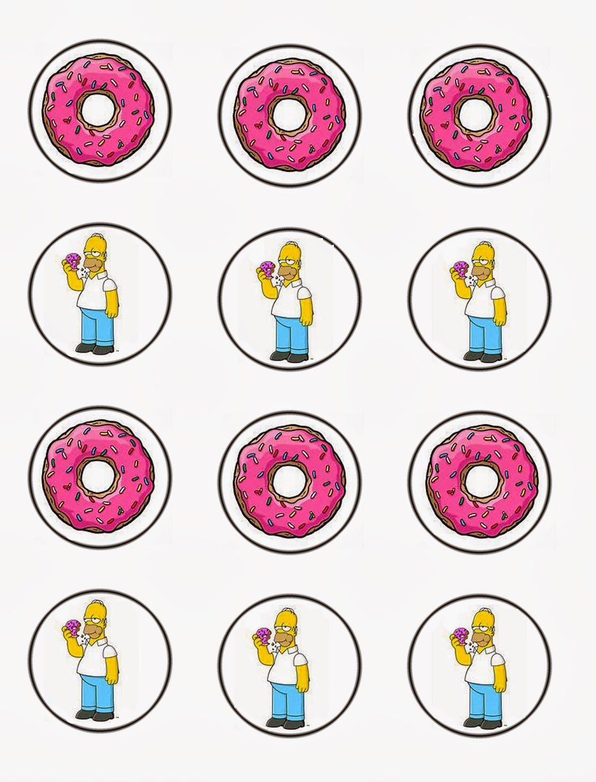Daisy Celebrates Free The Simpsons Cupcake Toppers Download Simpsons Party The Simpsons Free Printable Invitations
