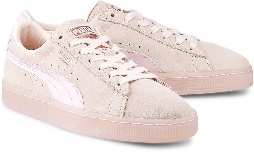 Exklusive Sneaker Von Puma Suede Classic Satin In Rosa Im Gortz Online Shop Versandkostenfrei Kostenloser Ruckversand Artikel 47496501 Sneaker Puma Satin