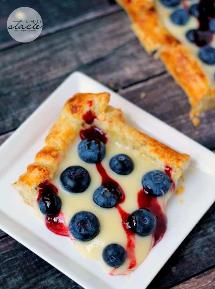 Rustic Blueberry Lemon Tart Blueberry recipes, Sweet