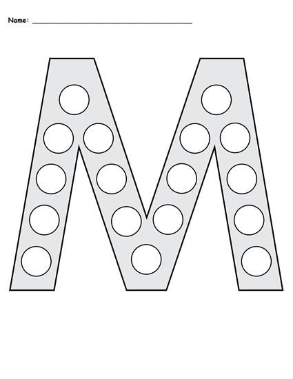 free letter m do a dot printables uppercase lowercase education practicing your letters. Black Bedroom Furniture Sets. Home Design Ideas