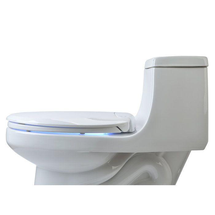 Brondell Lumawarm Heated Nightlight Elongated Closed Front Toilet