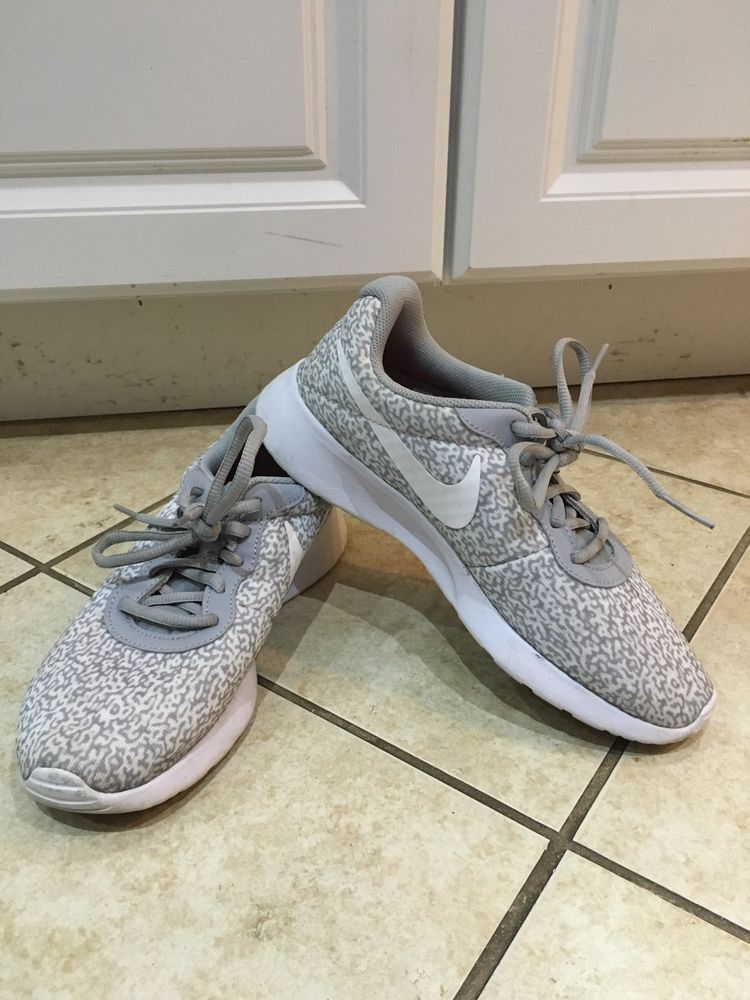 d2fc6a740f318c Nike Women s Tanjun Sneakers in GRAY WHITE - SIZE 7.5  fashion  clothing   shoes  accessories  womensshoes  athleticshoes (ebay link)