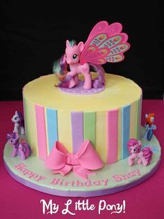 Tartas de cumpleaos birthday Cake My Little Pony Cake Pequeo