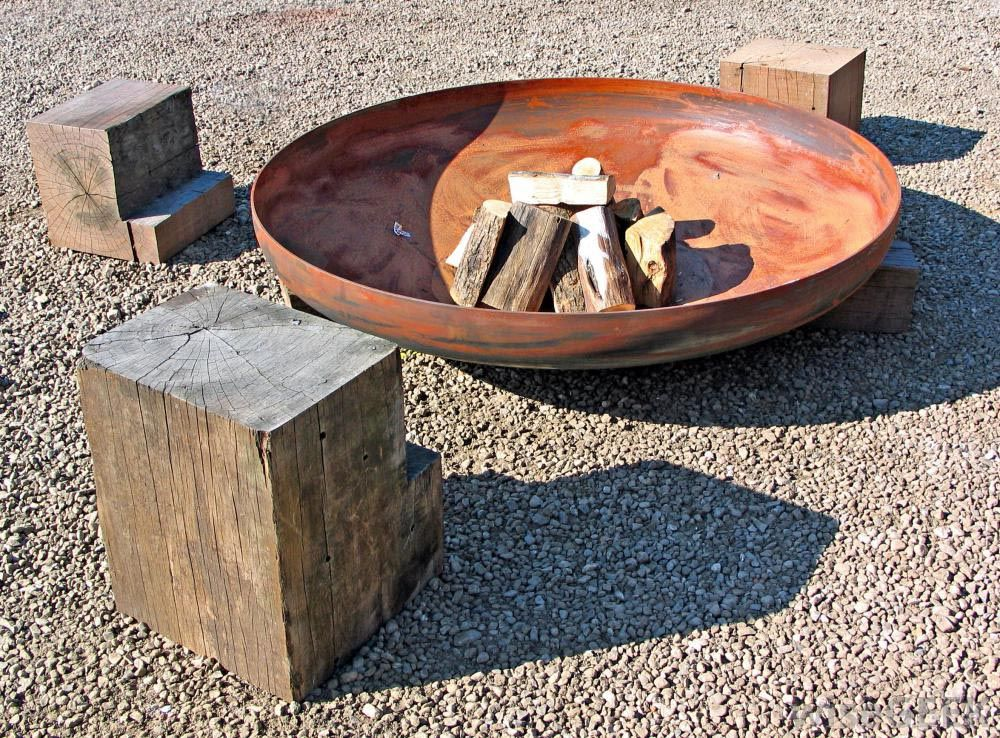 fire pit bowl insert steel only propane