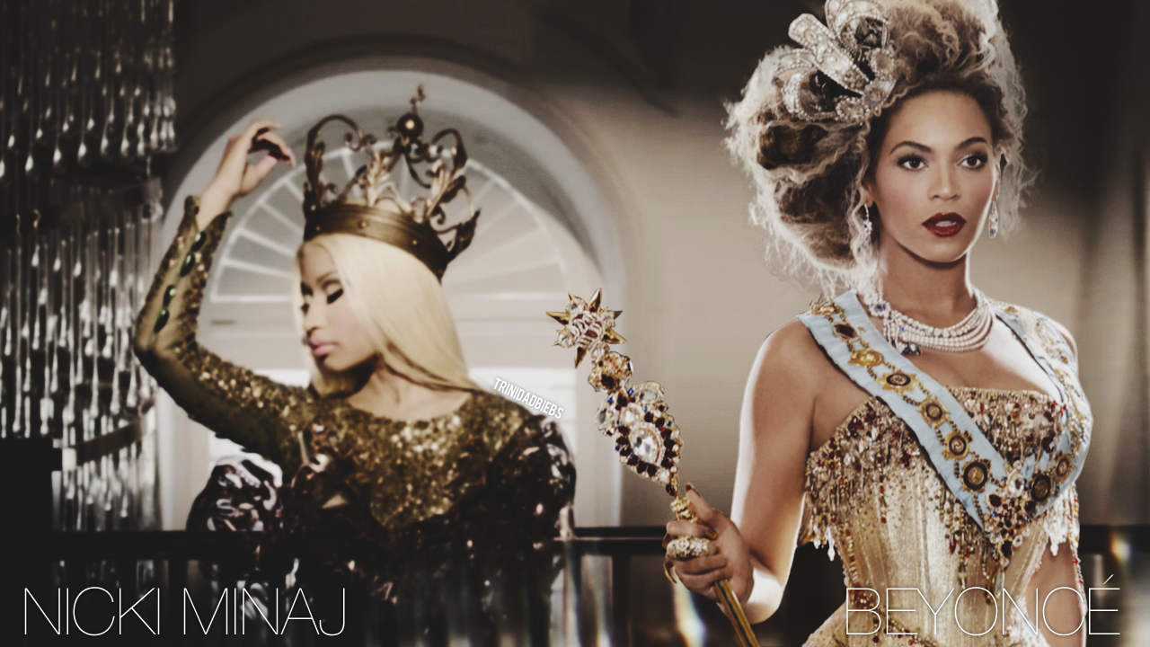 Queen Of Rap With The Queen Of Pop Nicki Minaj With Beyonce Nicki Minaj Beyonce Fashion