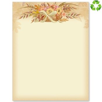 Autumn Flowers Border Papers Borders For Paper Letter Paper Flower Letters