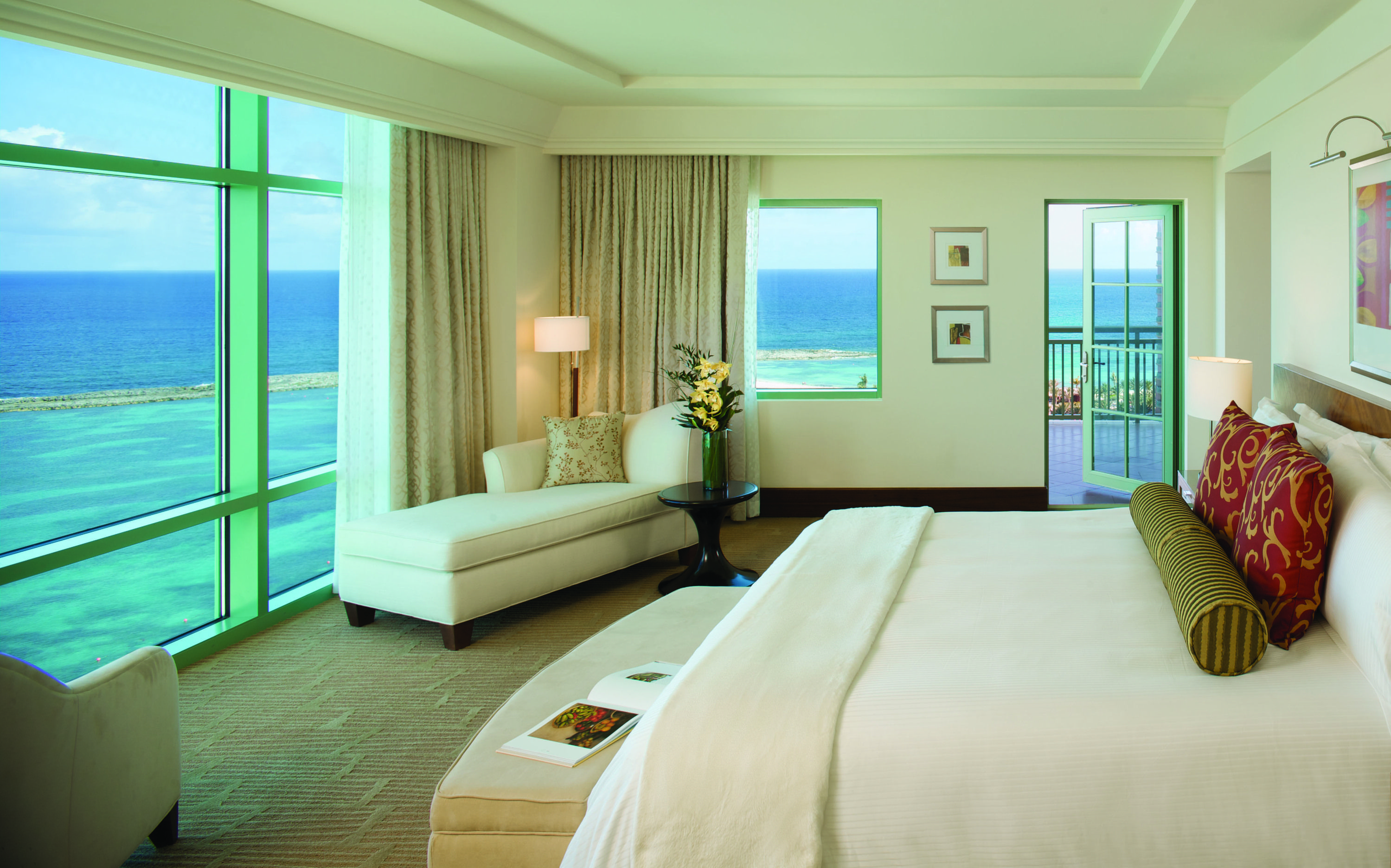 The Topaz Suite bedroom at The Reef. What an amazing view