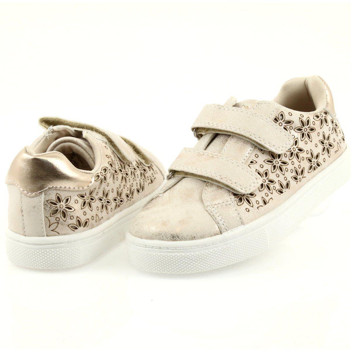 Buty Sportowe Buty Dzieciece Kwiaty American Club Zloty Sports Shoes For Girls Sports Shoes Childrens Shoes