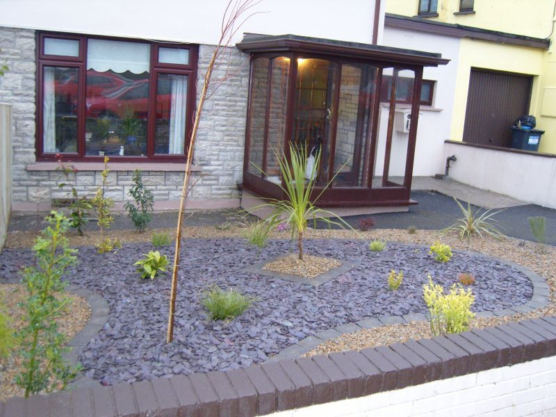 High Quality Low Maintenance Landscaping Around House