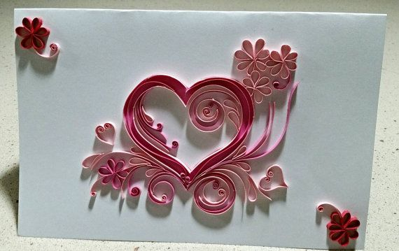 Quilled Valentine S Card By Sarithaquilling On Etsy Quilling