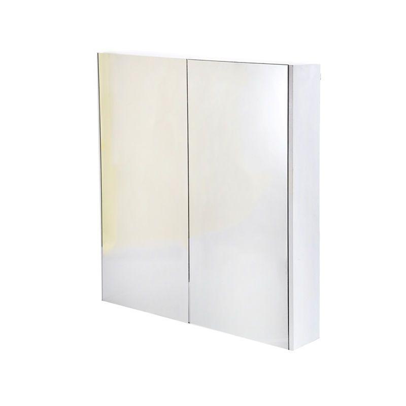 Panana 600mm Mirror Bathroom Cabinet Gloss White 2 Door Minimalist Wall Hung Uk Bathroom Mirror Cabinet Bathroom Cabinets Cupboard Storage