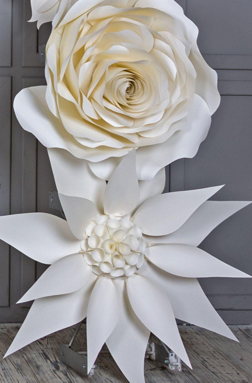Wedding Arch Paper Flowers Wedding Venue Decoration White Paper