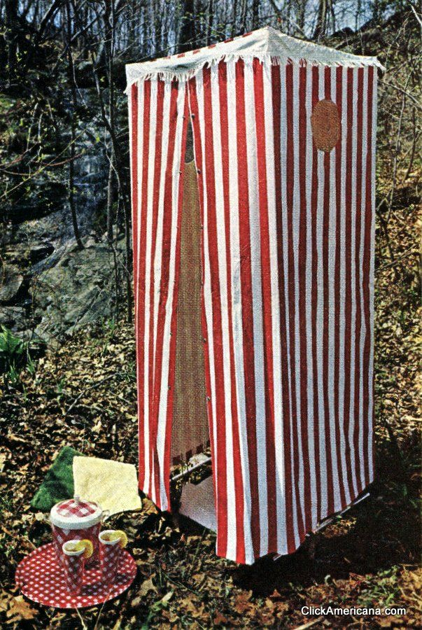 Gimme shelter Striped outdoor tents (1965 & Gimme shelter: Striped outdoor tents (1965 | Tents Shower tent ...