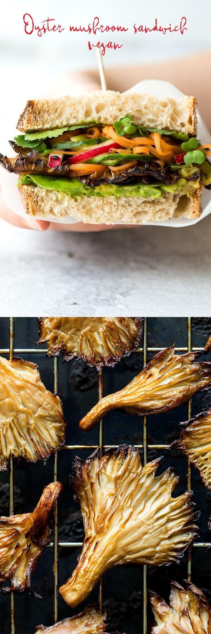 Asian mushroom sandwich Lazy Cat Kitchen Recipe