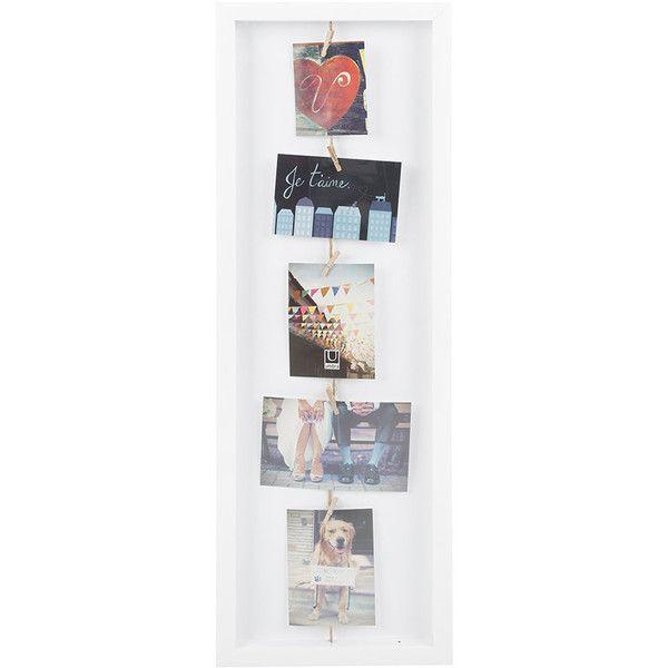 Umbra Clothesline Flip Photo Display - White ($42) ❤ liked on ...