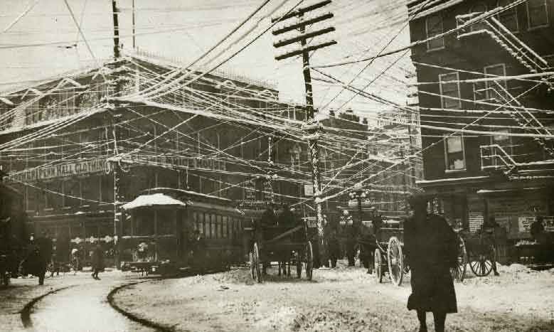 Postcard | Telephone Wires - Early telephone wires could not carry ...