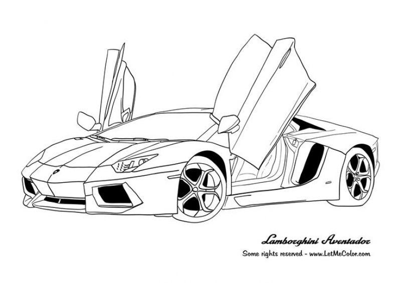 Online Lamborghini Coloring Pages Printable Letscolorit Com 塗り絵 ぬり絵 ランボルギーニ