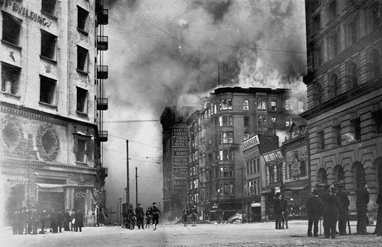 Winchester Hotel Fire, 1906 San francisco earthquake