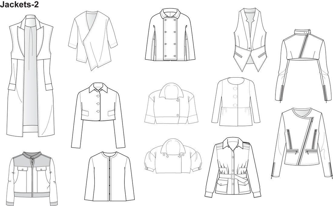 Illustrator Fashion Templates for Men Garment by Nadia Faubert ...