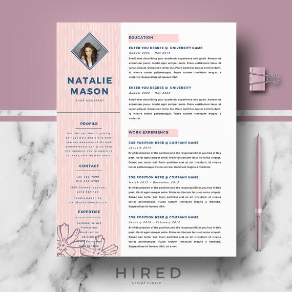 Creative Resume Template Resume Template for MS Word CV - references resume