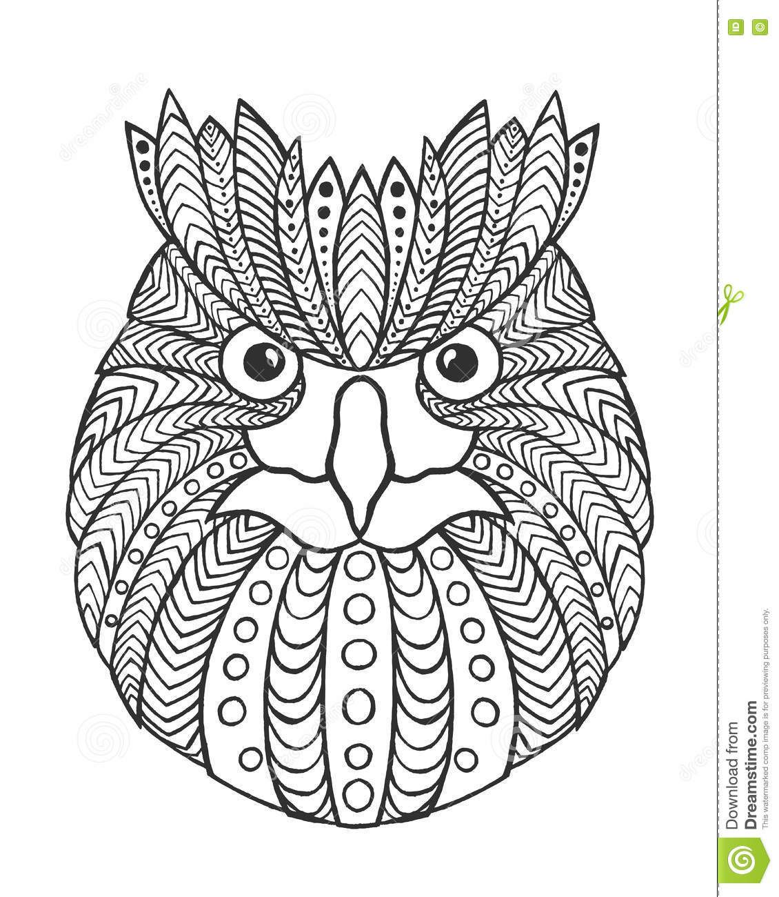 Owl Head Coloring Pages Pattern Coloring Pages Coloring Pages Animal Coloring Pages