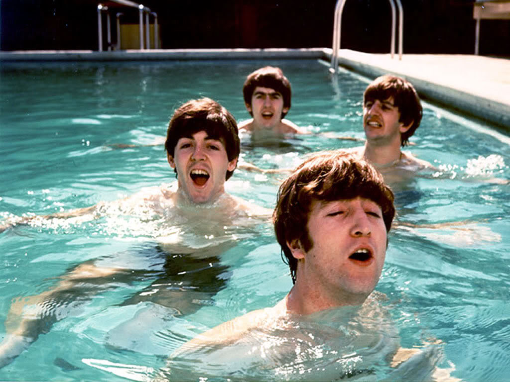 John loengard 1964 the beatles miami beach florida for Pool show michigan