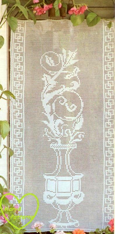 PDF Crochet pattern curtains-tend - Crochet tend- Home decor ...