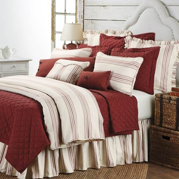 HiEnd Accents Prescott Red Bedding   The Home Decorating Company Has The  Best Sales U0026 Prices