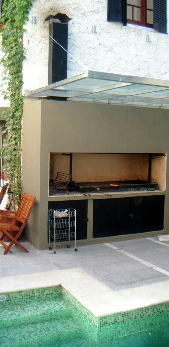 Pin de martin boero en parrilla outdoor kitchen bars for Disenos de quinchos con piscinas