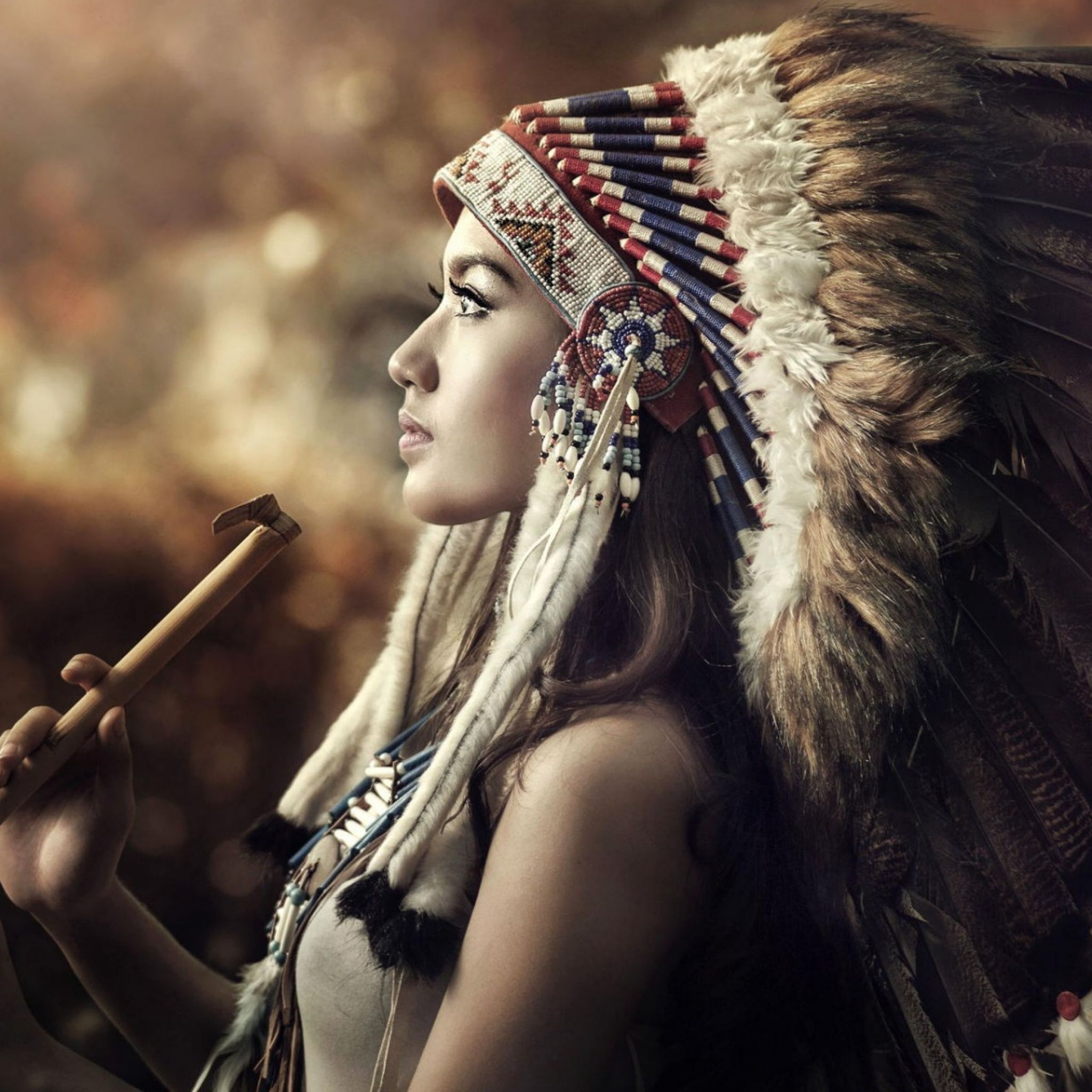 Native American Girl Ipad Air Wallpaper