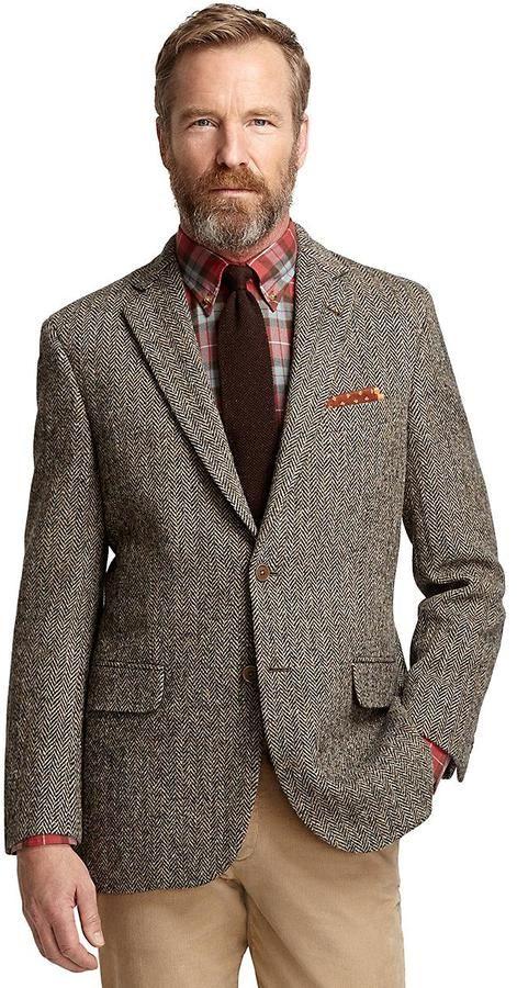 Pin by Lookastic on Navy Blazers | Tweed sport coat ...