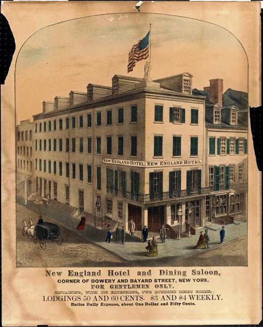 The Lost New England Hotel No 30 Bowery With Images Hotel