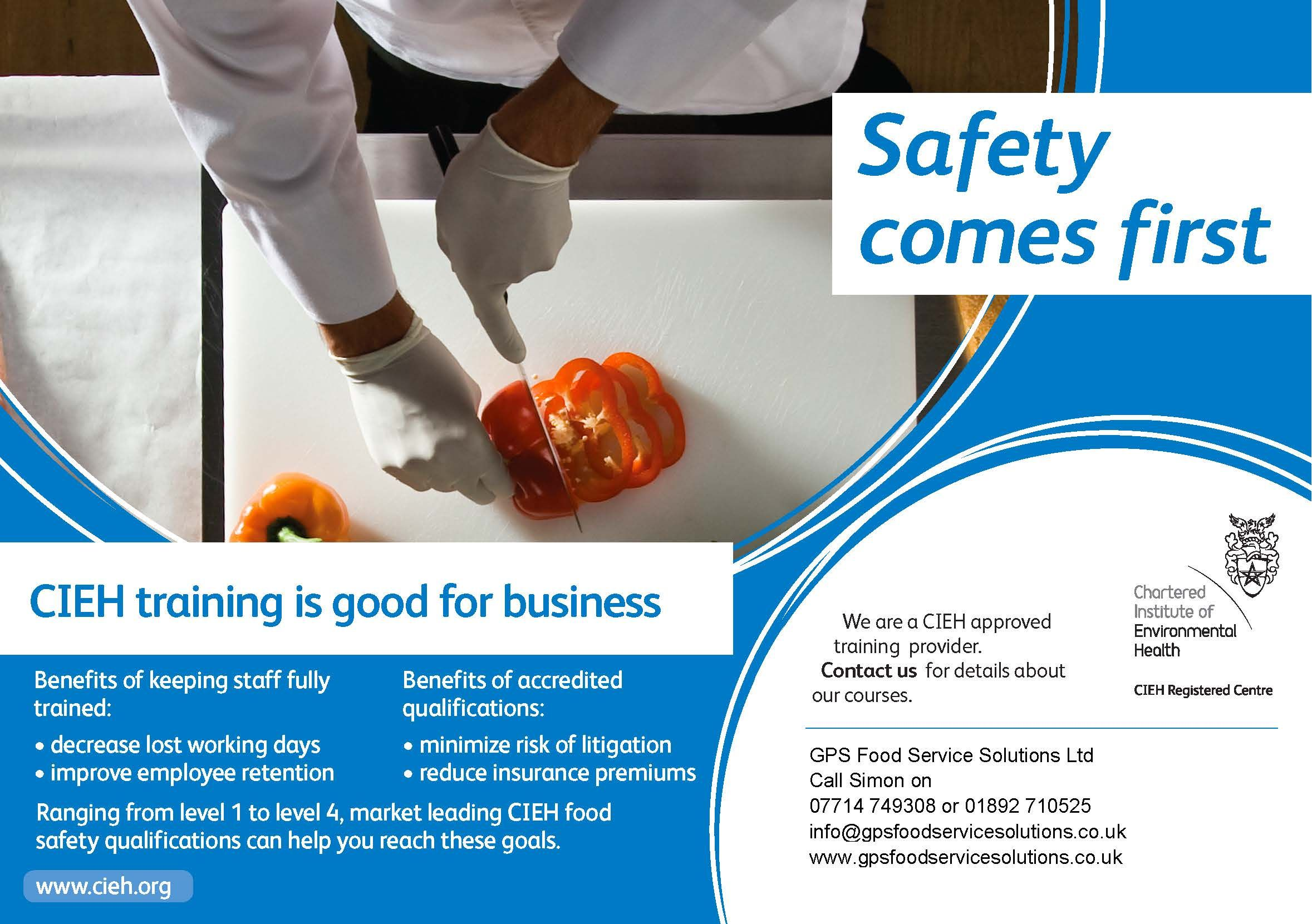 Gps Food Service Solutions Food Hygiene Training Courses