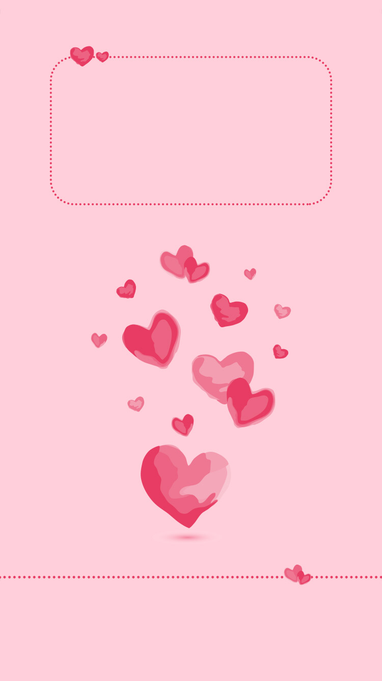 Hearts Valentines iPhone cell lock screen