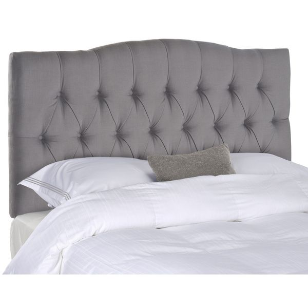 Grey Tufted Headboard Queen With 2 White Cushions   Headboards ...