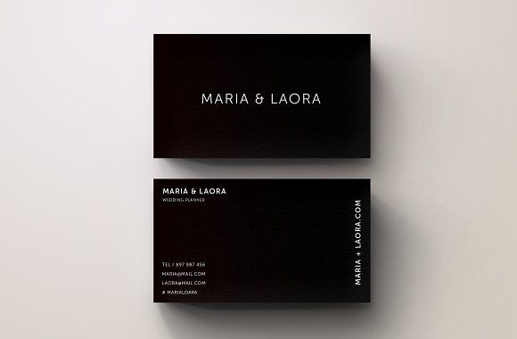 Black And White Modern Business Card Design  Professional