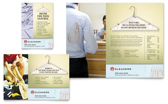 Laundry and Dry Cleaners Flyer and Ad Template Design by - cleaning brochure template